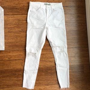 White Topshop stretchy denim leggings